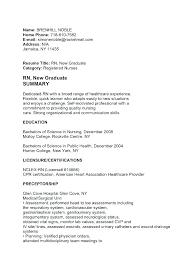 Cover Letter For A Nursing Job Resume Directory