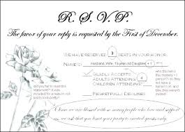 Response Cards Size Wedding Invitations With Response Cards Included
