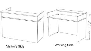 classic custom standing height reception desk 5 w