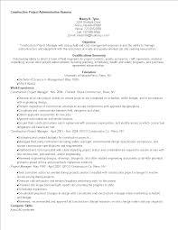 免费construction Project Administration Resume 样本文件在
