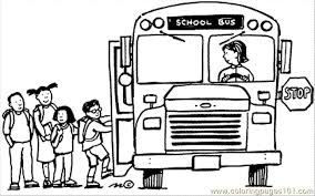 Small Picture School Bus Stop Coloring Page Free School Coloring Pages