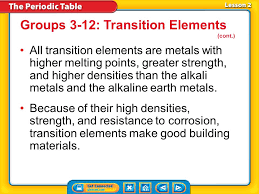 Lesson 1 Using the Periodic Table Lesson 2 Metals - ppt video ...