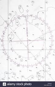 Navigation Chart Fragment With Compass Deviation Symbol