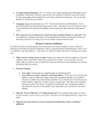 Resume Formatting Guidelines Home Unh School Of Law