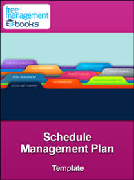 schedule plan template management plan template