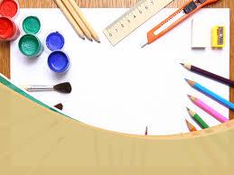 art backgrounds for powerpoint. School Art Supplies Background Throughout Backgrounds For Powerpoint PPT