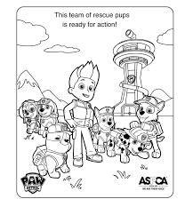Singular Paw Patrol Coloring Pages Rocky Chase Free Marshall Stock