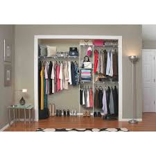 details about closet organizer clothes storage hanger shelves system kit shelf rack wardrobe