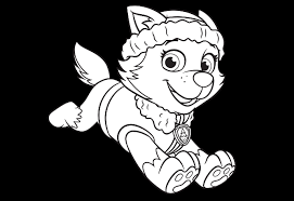Everest Coloring Page Paw Patrol Get Coloring Pages
