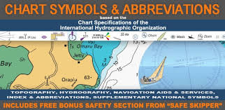 Navigation Charts For Iphone Chart Symbols Abbreviations Boating Nautica Safe