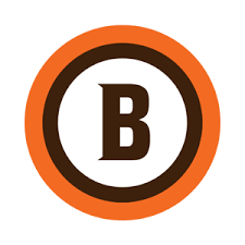NFL Team Logos as EU Soccer Badges -- Cleveland Browns   Typo-graphy ...