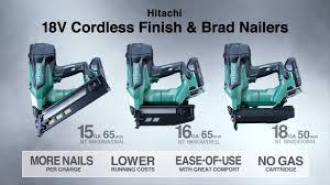 hitachi pin nailer. 18v cordless finish \u0026 brad nailers : nt1865dma/nt1865dbal/nt1865dm/nt1865dbsl/nt1850de/nt1850dbsl hitachi pin nailer 6