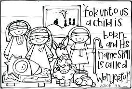 Away In A Manger Coloring Pages Nativity Scene Color Page Printable