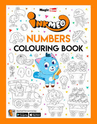 inkmeo paper numbers colouring book for kids