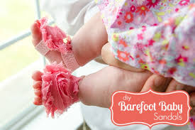 the cutest diy barefoot sandals for babies