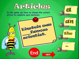 Articles Powerpoint Game