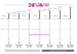 X Pole Height Chart Deva Dance Shop Order Now Your X Pole Xpert Devadanceshop