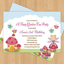 fairy garden birthday party invitation thank you card digital clipart freeuse