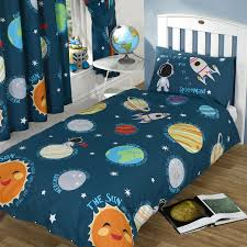 solar system space planets single double junior duvet covers matching curtains
