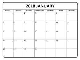 january 2018 calendar free january 2018 printable calendar printable calendar templates
