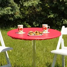 stylish outdoor red spandex round table covers with red vinyl tablecloths fitted and outdoor round bar
