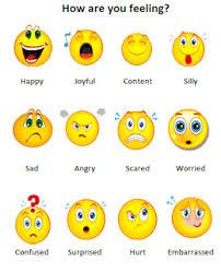 Feelings Chart Emoji How Are You Feeling