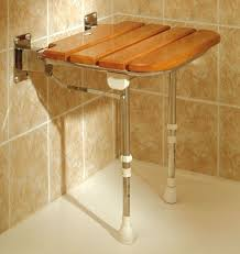 fold up wooden slatted seat with legs
