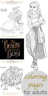 Small Picture Beauty and the Beast Coloring Pages for Adults Living Mi Vida Loca