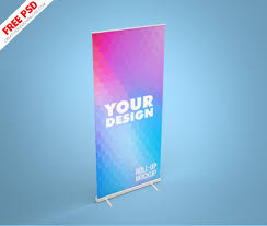 Tons of free and legal, fully layered, easily customizable photo realistic psd mockups: Roll Up Mockup Banner Free Psd