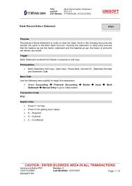 Bank Reconciliation Example Simple Bank Reconciliation Ff48
