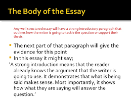 a well structured essay  15 <ul><li>any well structured essay