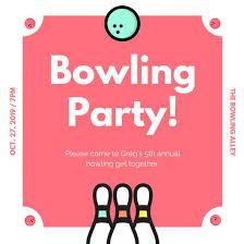 bowling invitation templates customize 95 bowling invitation templates online canva