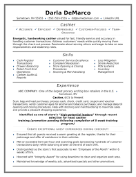 Cashier Resume Example Sample Simple Print And Kevincu