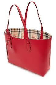 women burberry stylish burberry reversible leather tote red women bags