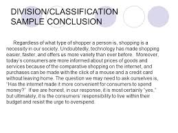division classification definitions ppt video online  division classification sample conclusion