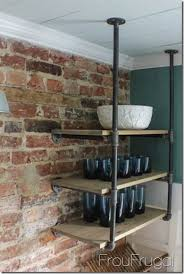 Lovely Kitchen Remodel   Open Shelves With Plumbing Pipe