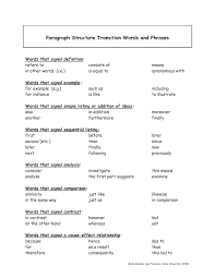 transitional words for essays best images of worksheets transition words phrases linking transitions view larger