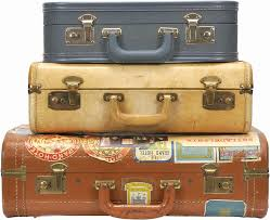 vintage luggage. a suitcase full of memorable things. vintage luggage