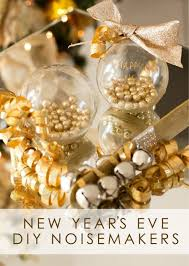 golden diy new years eve noisemaker using ornamental
