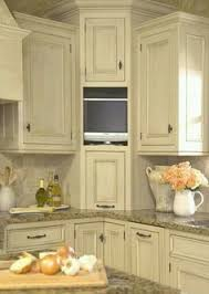 corner kitchen furniture. entertainment corner in addition to traditional cabinets this kitchen boasts a small television here it is easily visible but doesnu0027t get the furniture