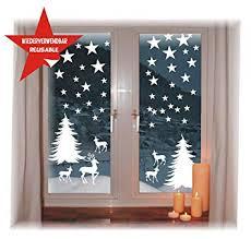 Das Label Wiederverwendbare Winterliche Fensterbilder Weiß Winterwald Mit Sterne Weihnachten Fensterdeko Ohne Transparenten Hintergrund Winterwald