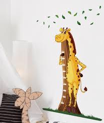 Giraffe Chart Giraffe Height Chart Wall Sticker