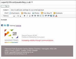 work email signatures emails 20twentymarketing