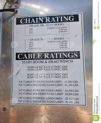 Tow Truck Chain Rating Cable Ratings Editorial Image