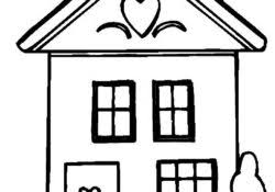 Simple House Coloring Pages Archives How Coloring Pages