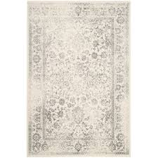 safavieh adirondack 11 x 15 power loomed rug in ivory and silver adr109c 1115