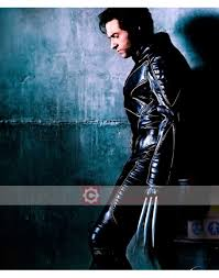 x men wolverine special black biker costume leather jacket