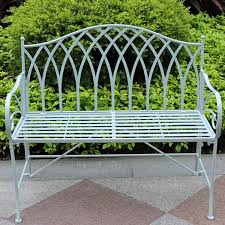 Best Wrought Iron Outdoor Bench Gothic Vintage Outdoor Foldable Garden Metal Bench