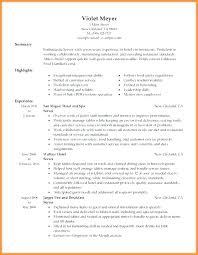 Waitressing Resume Waitress Resume Objective Wikirian Com