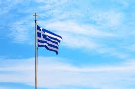Национальный греческий флаг Фото история значение цветов Национальный флаг Греции